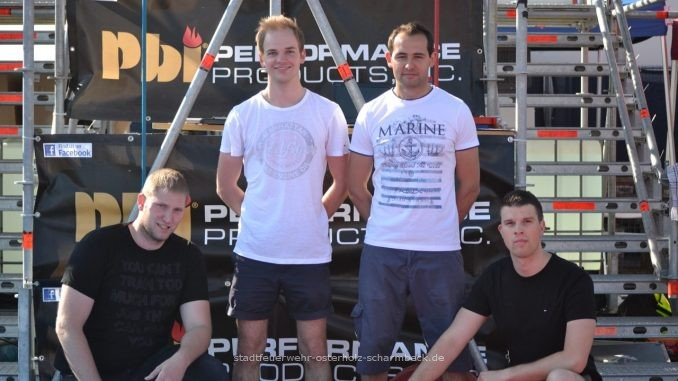 Team der Firefighter Combat Challenge in Bremerhaven
