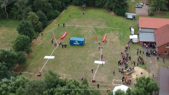 Kreiswettbewerb-Wettbewerbsplatz in Bornreihe
