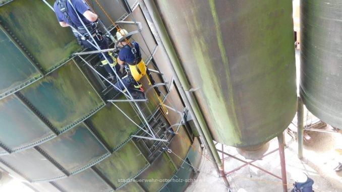 Übung - Ofw Osterholz-Scharmbeck - Absturzsicherung - Sechs Stunden im Seil