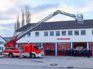 Drehleiter Osterholz-Scharmbeck - Übergabe durch den Bürgermeister Torsten Rohde
