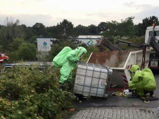 Einsatzübung Gefahrgutunfall Osterholz-Scharmbeck Pennigbüttel